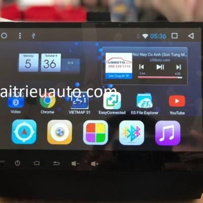 màn hình android theo xe santafe 2017
