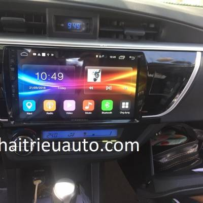 màn hình android Zestech theo xe altis