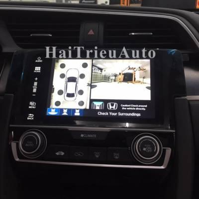 lắp Camera 360  cho xe honda civic 2017