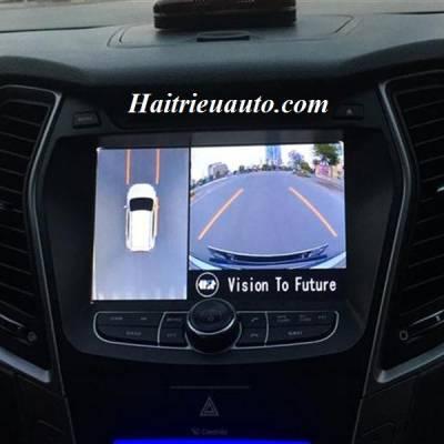 Lắp camera 360 độ cho xe Hyundai Santafe