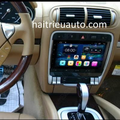màn hình android theo xe Porsche Cayenne
