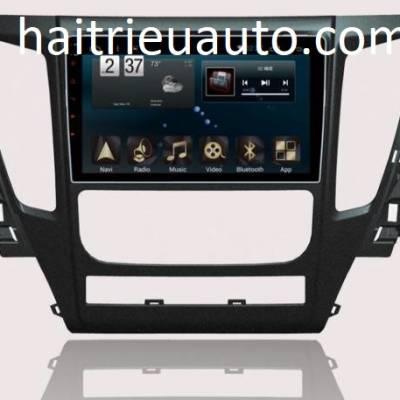 màn hình android theo xe pajero sport 2018