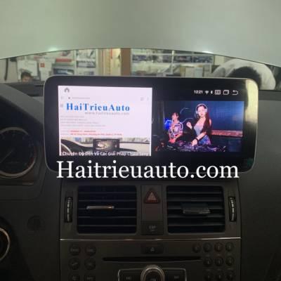 màn hình android xe mercedes C 300 2010