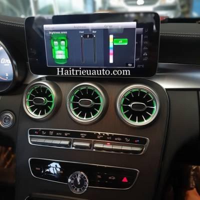 Cửa gió Turbine đèn LED theo xe Mercedes C300 2020