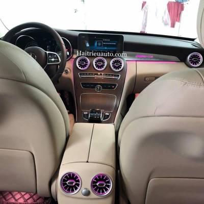 Cửa gió Turbine đèn LED theo xe Mercedes C200 Exclusive