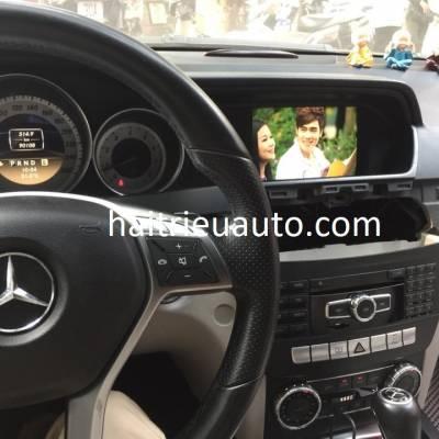 màn hình android theo xe mercedes C 300 2012