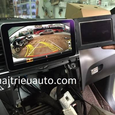 màn hình android theo xe mercedes ML 450