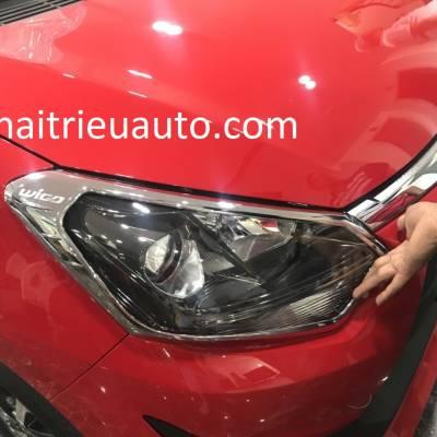viền đèn trước xe Toyota Wigo
