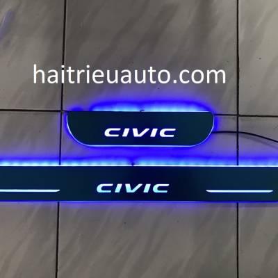 nẹp bước chân đèn led cho xe honda civic