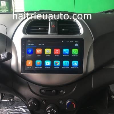màn hình android theo xe Spark  2018