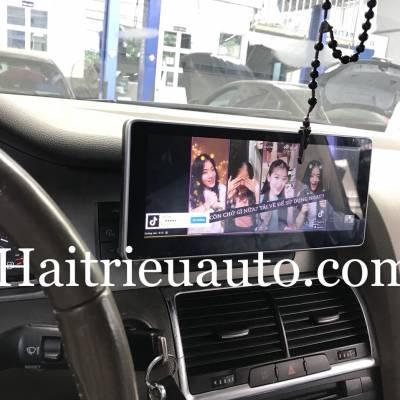 màn hình android theo xe audi Q7 2009