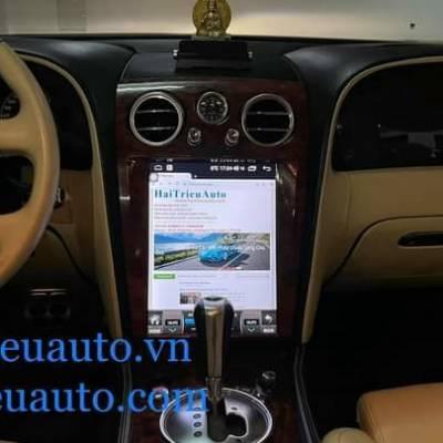 màn hình android tesla theo xe bently