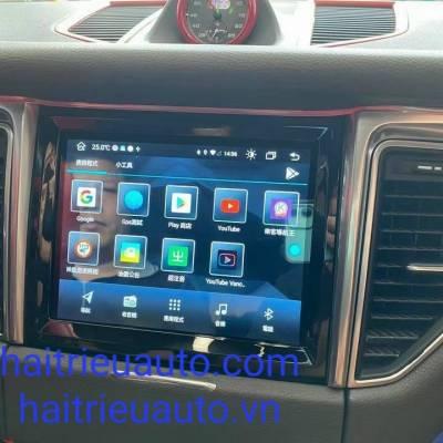 màn hình android theo xe Porsche macan