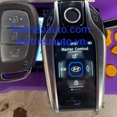 nâng cấp chìa khóa thông minh LCD theo xe kia Elantra