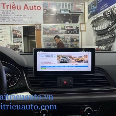 màn hình android theo xe audi Q5 2018