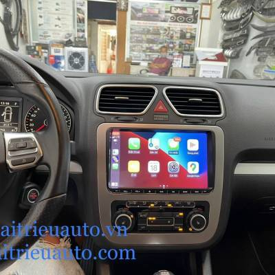 màn hình android theo xe Volkswagen Scirocco 2015