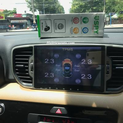 Màn hình áp suất lốp kết hợp màn hình DVD theo xe