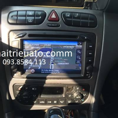 Màn hình dvd theo xe Mercedes C  W203